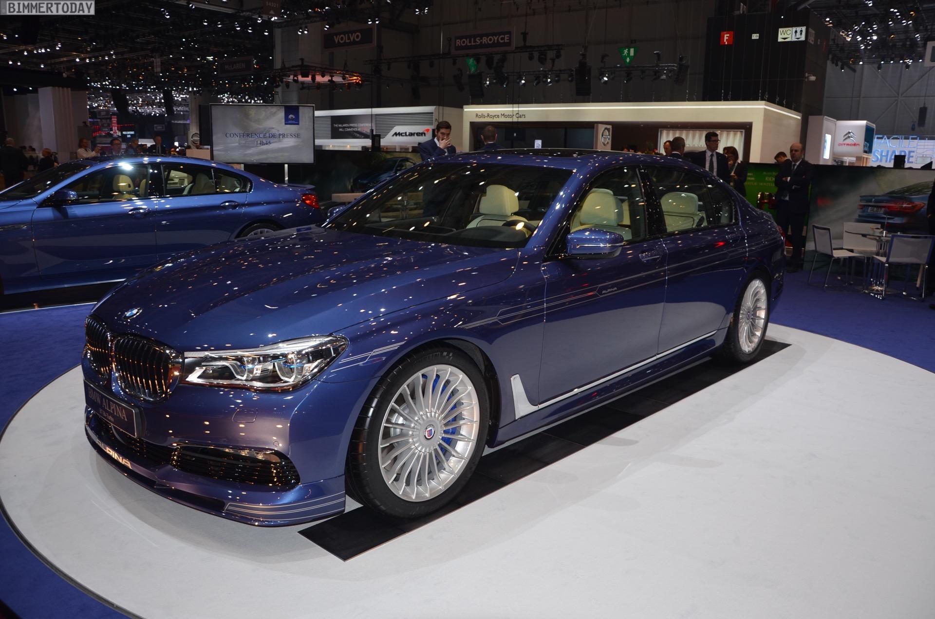 BMW Alpina B7 xDrive G12 V8 BiTurbo 7er Autosalon Genf 2016 LIVE 18