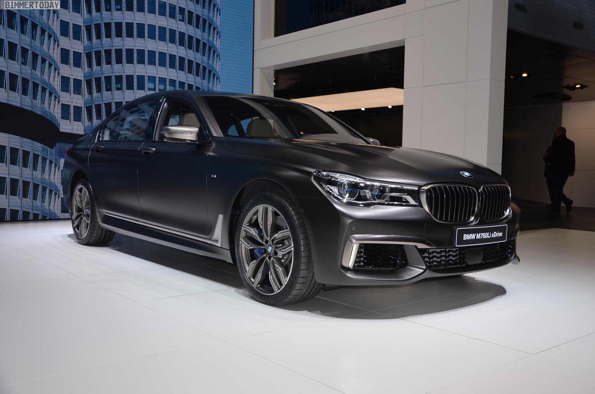 BMW M760Li G12 V12 xDrive 7er 2016 Frozen Dark Brown Genf Live 01