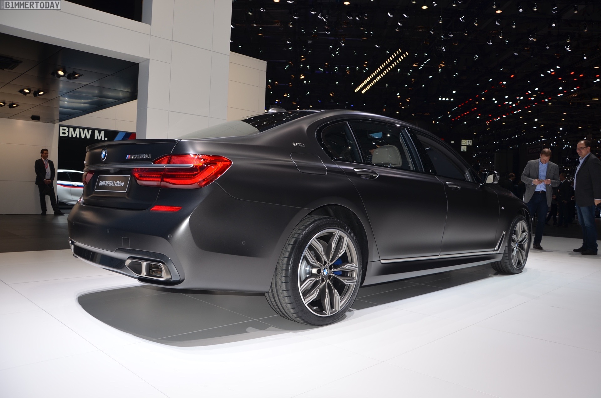 The new 2016 BMW M760Li debuts today at the Geneva Motor Show