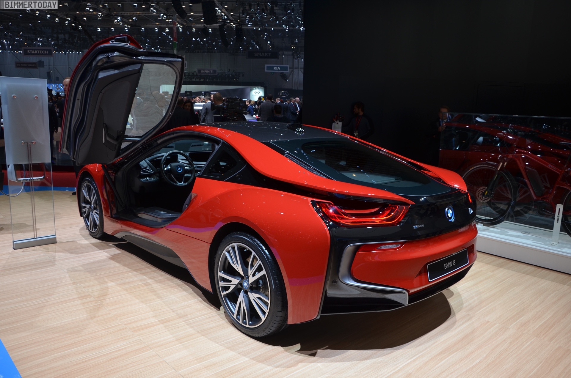 2016 Geneva Motor Show Bmw I8 Protonic Red Edition Makes