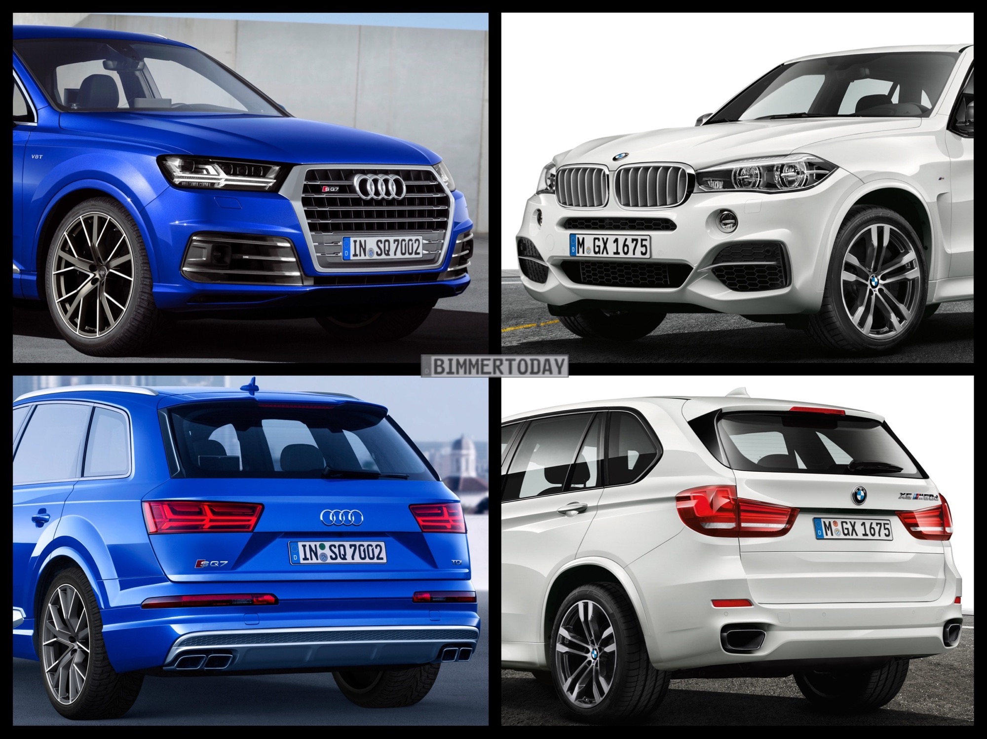 photo comparison bmw x5 m50d vs audi sq7 tdi. Black Bedroom Furniture Sets. Home Design Ideas