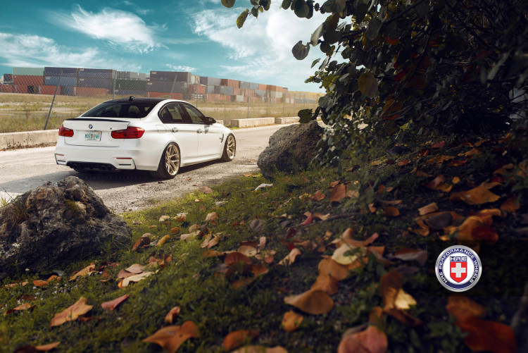 White BMW M3 with HRE R101 Wheels 2 750x501