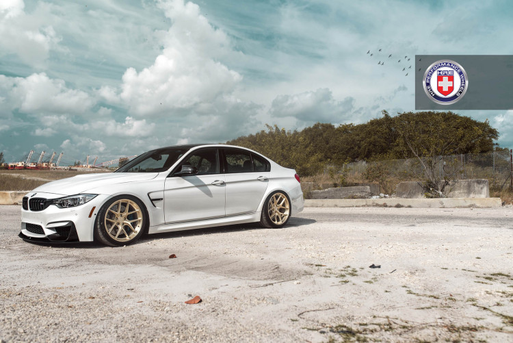 White BMW M3 with HRE R101 Wheels 6 750x501