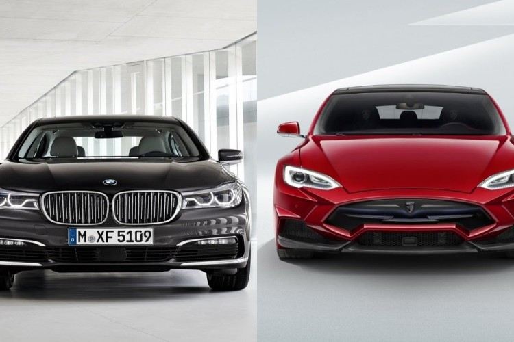 BMW 7 Series Tesla Model S 750x500