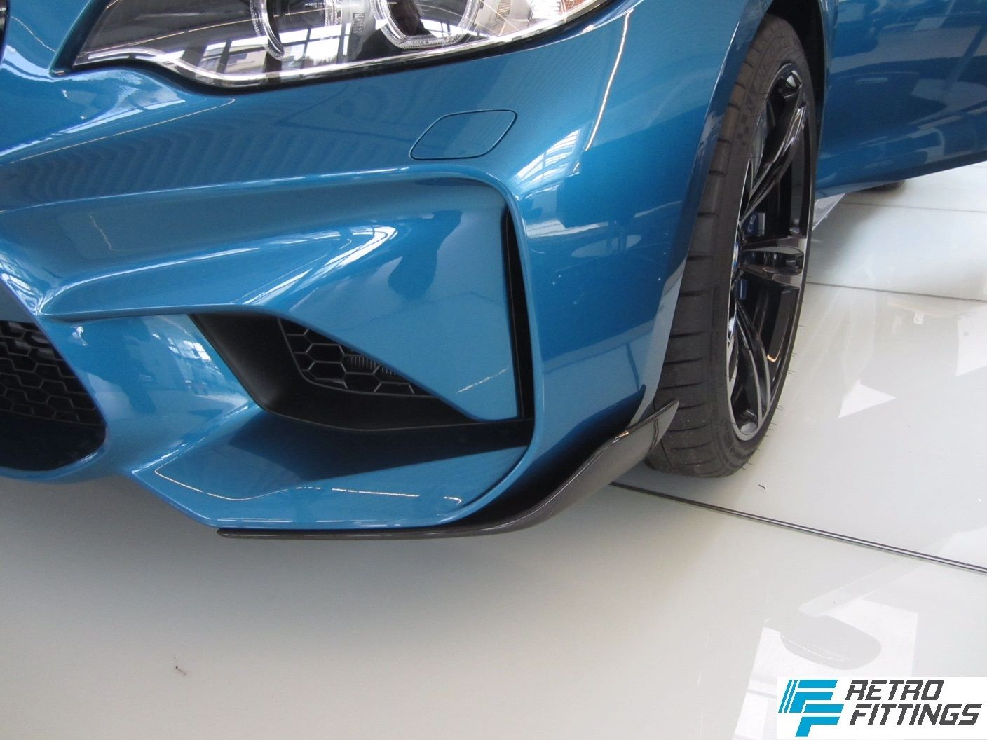 bmw m2 in long beach blue gets m performance parts. Black Bedroom Furniture Sets. Home Design Ideas
