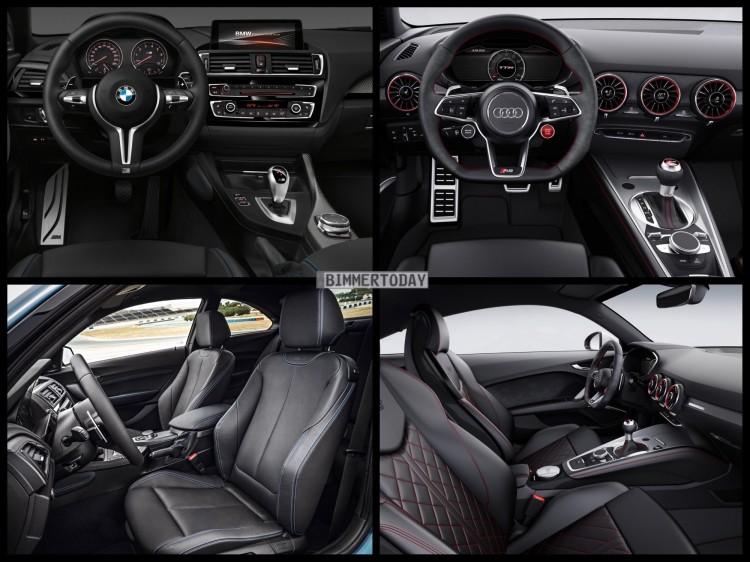Bild Vergleich Bmw M2 F87 Audi Tt Rs