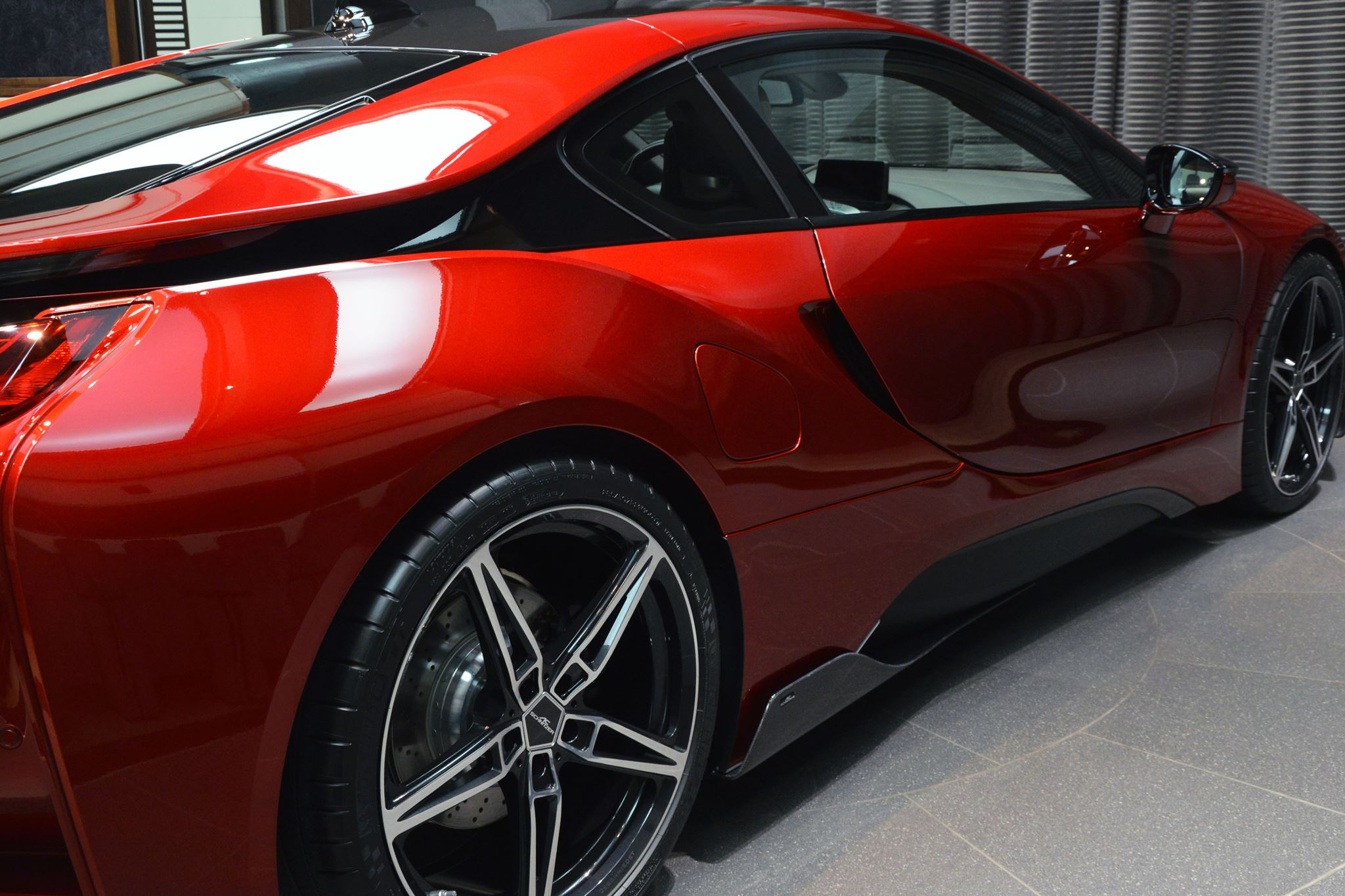 Bmw I8 Top Speed >> One-Off Lava Red BMW i8 Built for Princess Al Hawi in Abu Dhabi