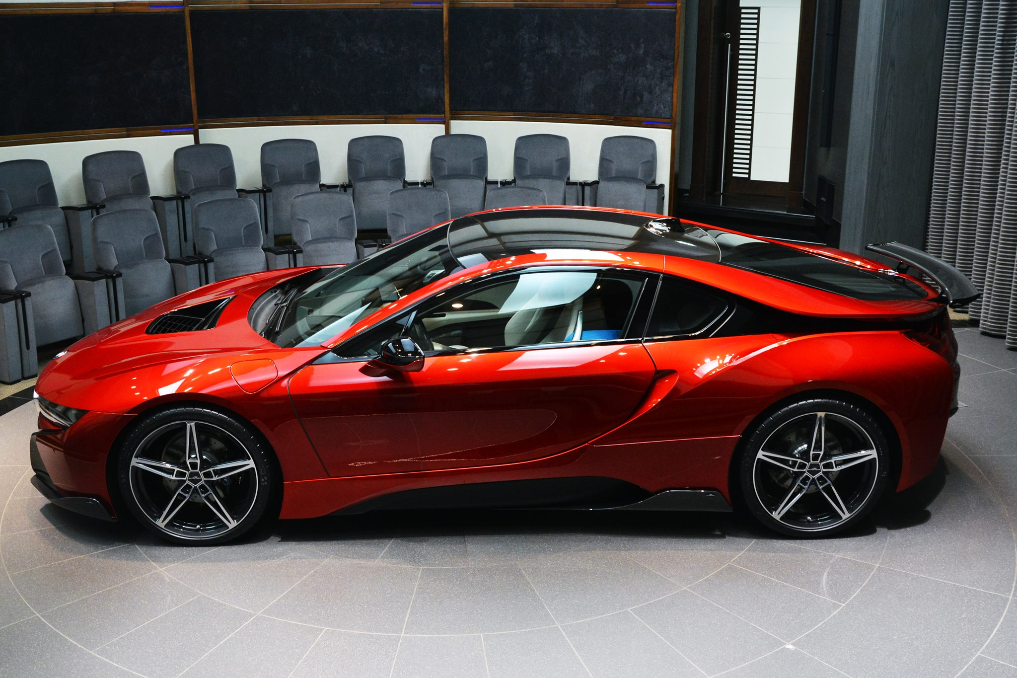 Ac Schnitzer Lava Red Bmw I8 Delivered In Abu Dhabi