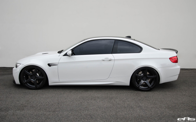 Alpine White BMW E92 M3 Upgraded With New Wheels 1 750x469