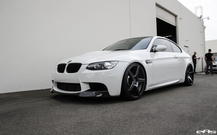 Alpine White BMW E92 M3 Upgraded With New Wheels 4 750x469