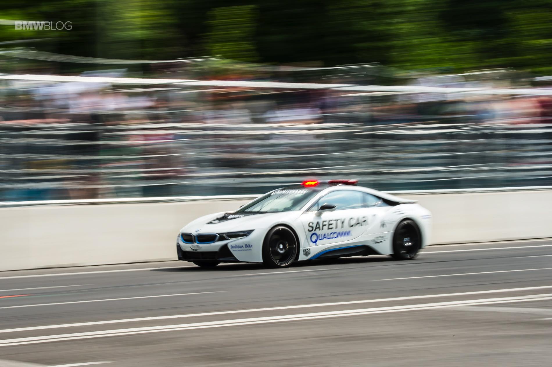 BMW i8 Safety Car test drive 85