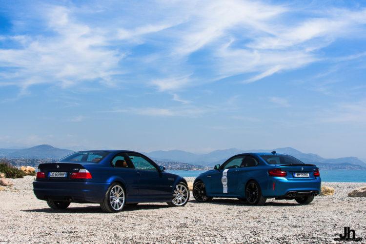 BMW E46 M3 vs BMW M2 3 750x500