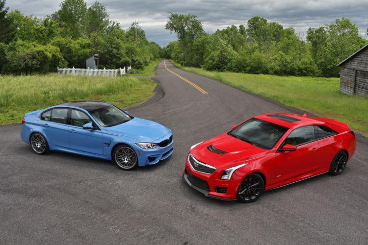 BMW M3 vs Cadillac ATS V 2 750x500