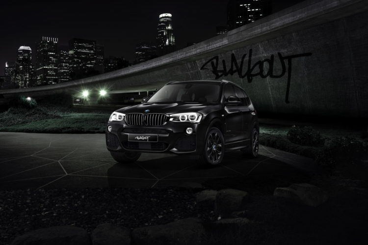 BMW X3 blacked out 1 750x500