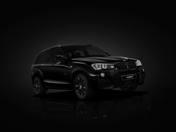 BMW X3 blacked out 4 750x563
