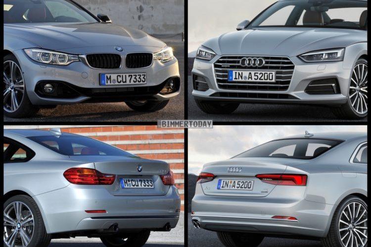 Bild Vergleich BMW 4er F32 Audi A5 Coupe 2016 01 750x562 750x500