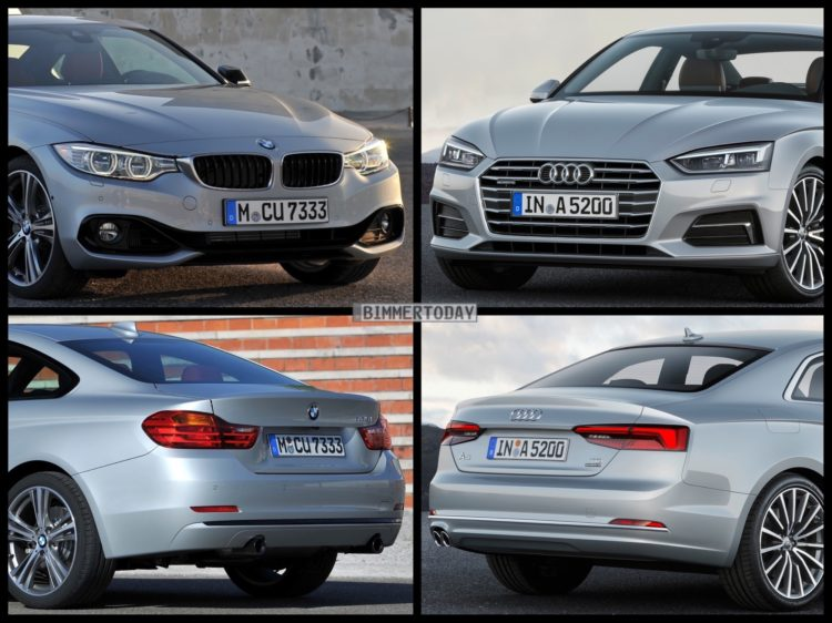 Bild Vergleich BMW 4er F32 Audi A5 Coupe 2016 01 750x562