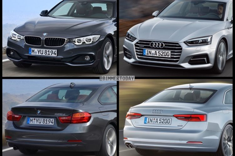 Auto Express tests BMW 4 Series Coupe vs Audi A5 Coupe