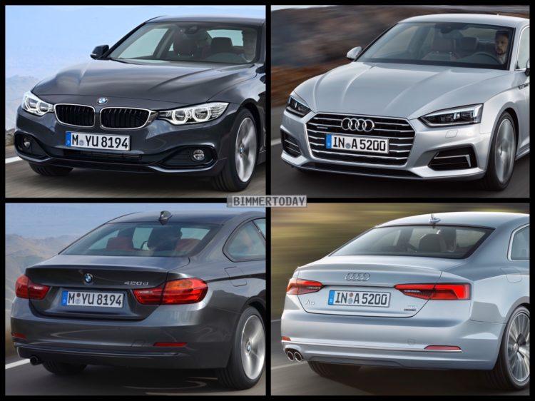 Bild Vergleich BMW 4er F32 Audi A5 Coupe 2016 02 750x562
