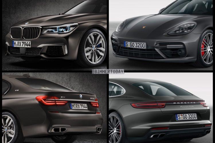 Bild Vergleich BMW 7er G11 M760Li Porsche Panamera Turbo 2016 01 750x500