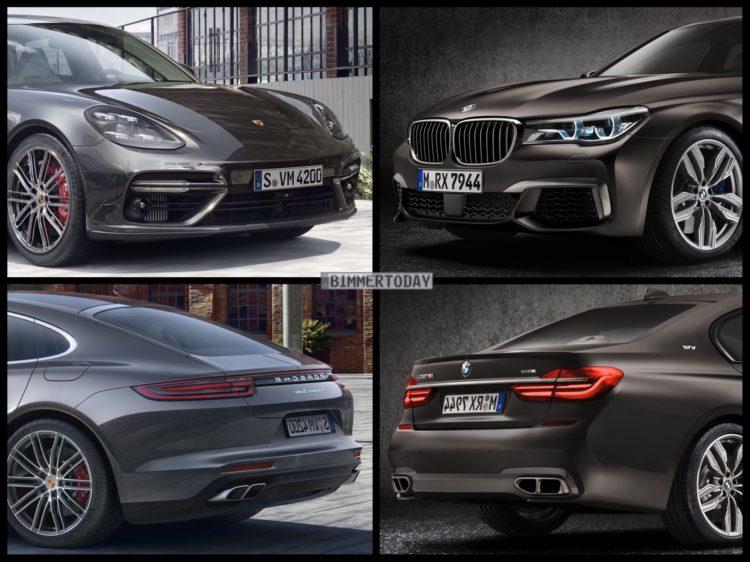Bild Vergleich BMW 7er G11 M760Li Porsche Panamera Turbo 2016 02 750x562