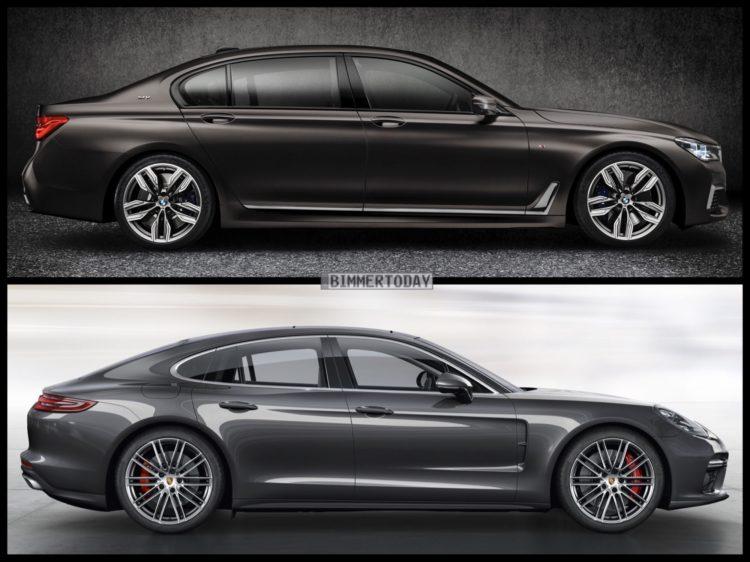 Bild Vergleich BMW 7er G11 M760Li Porsche Panamera Turbo 2016 03 750x562