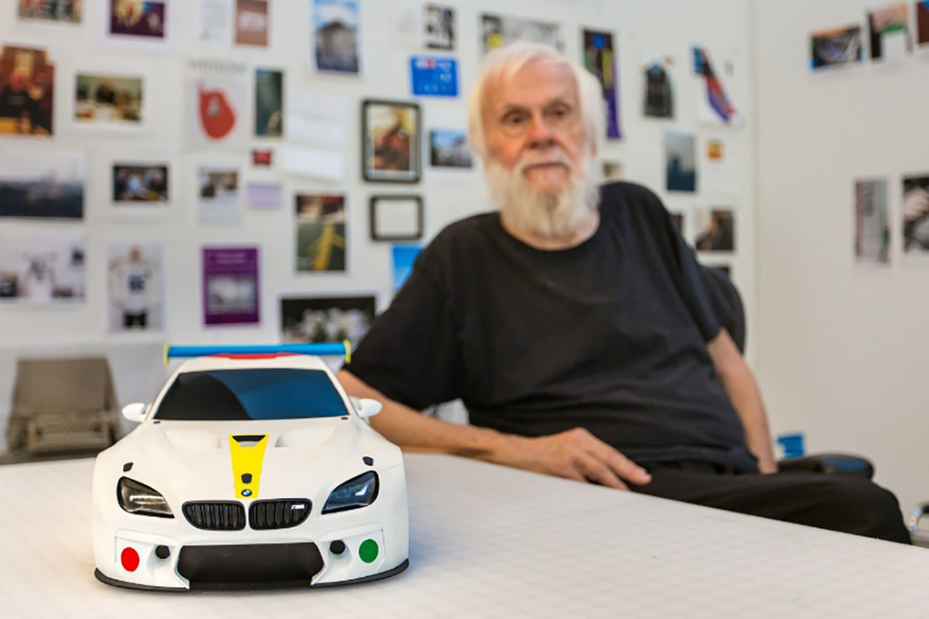 John Baldessari unveils the design study for 19th BMW Art Car
