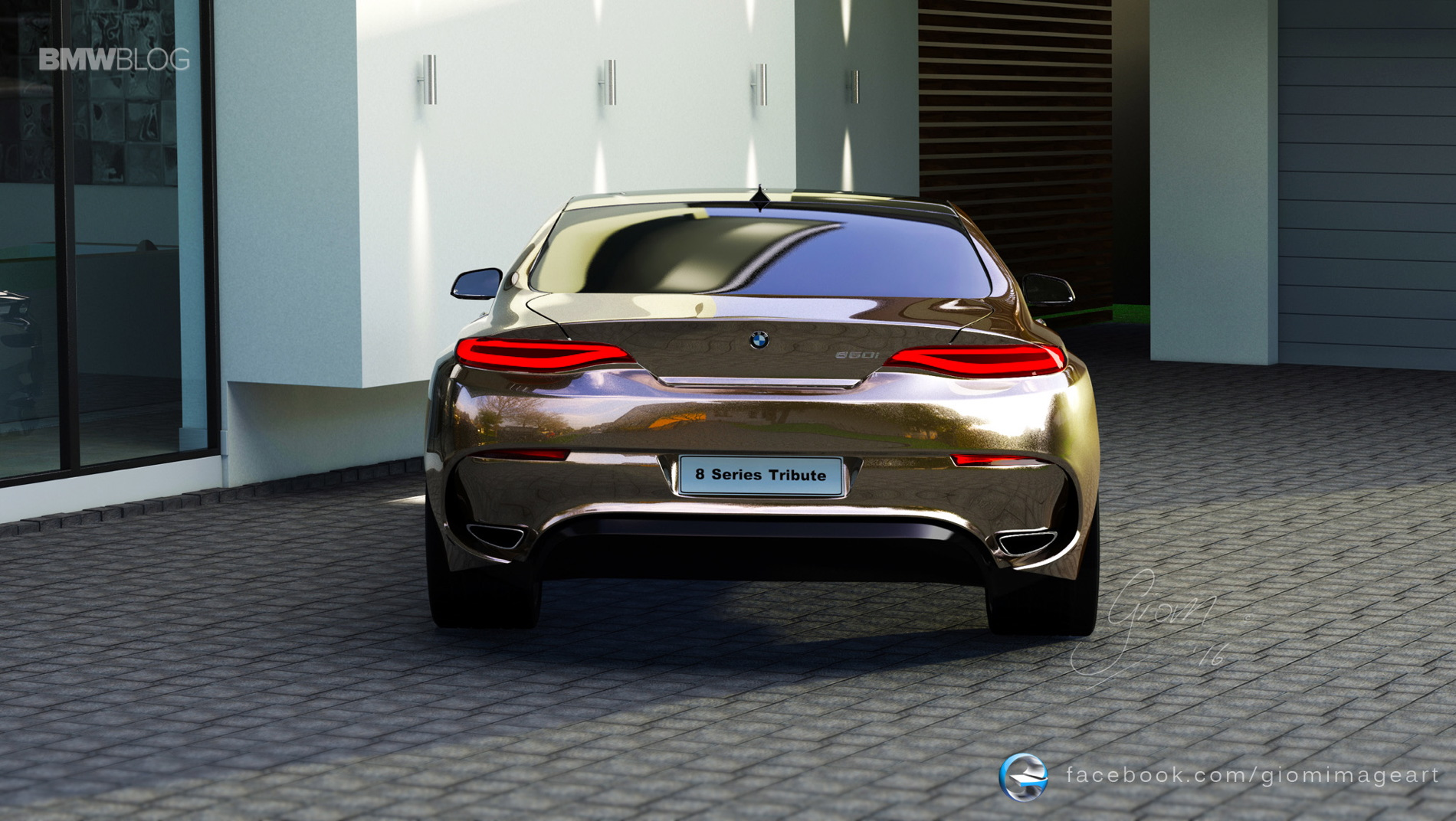 BMW 8 Series rendering tribute 1