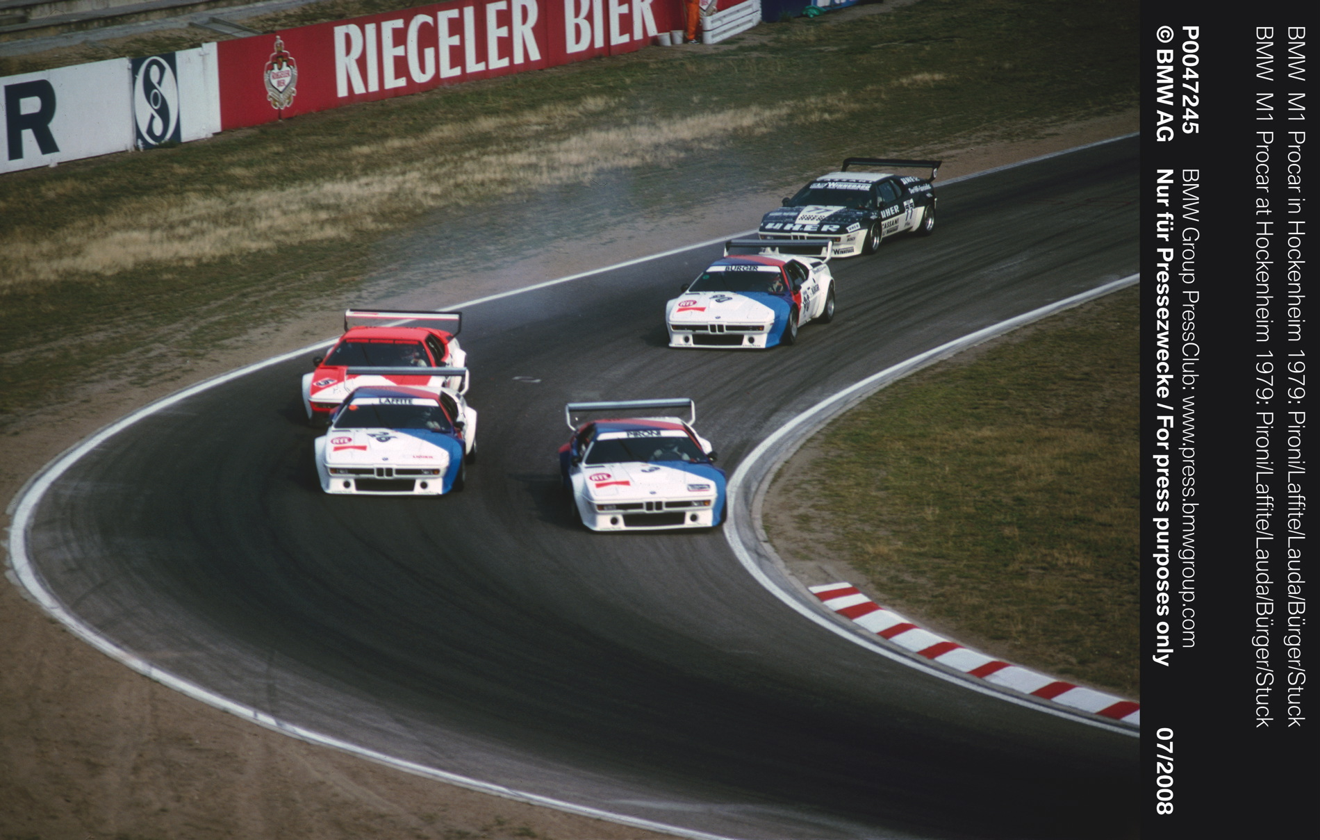 Bmw M1 Procar Race In The Warm Up Program Before Formula 1