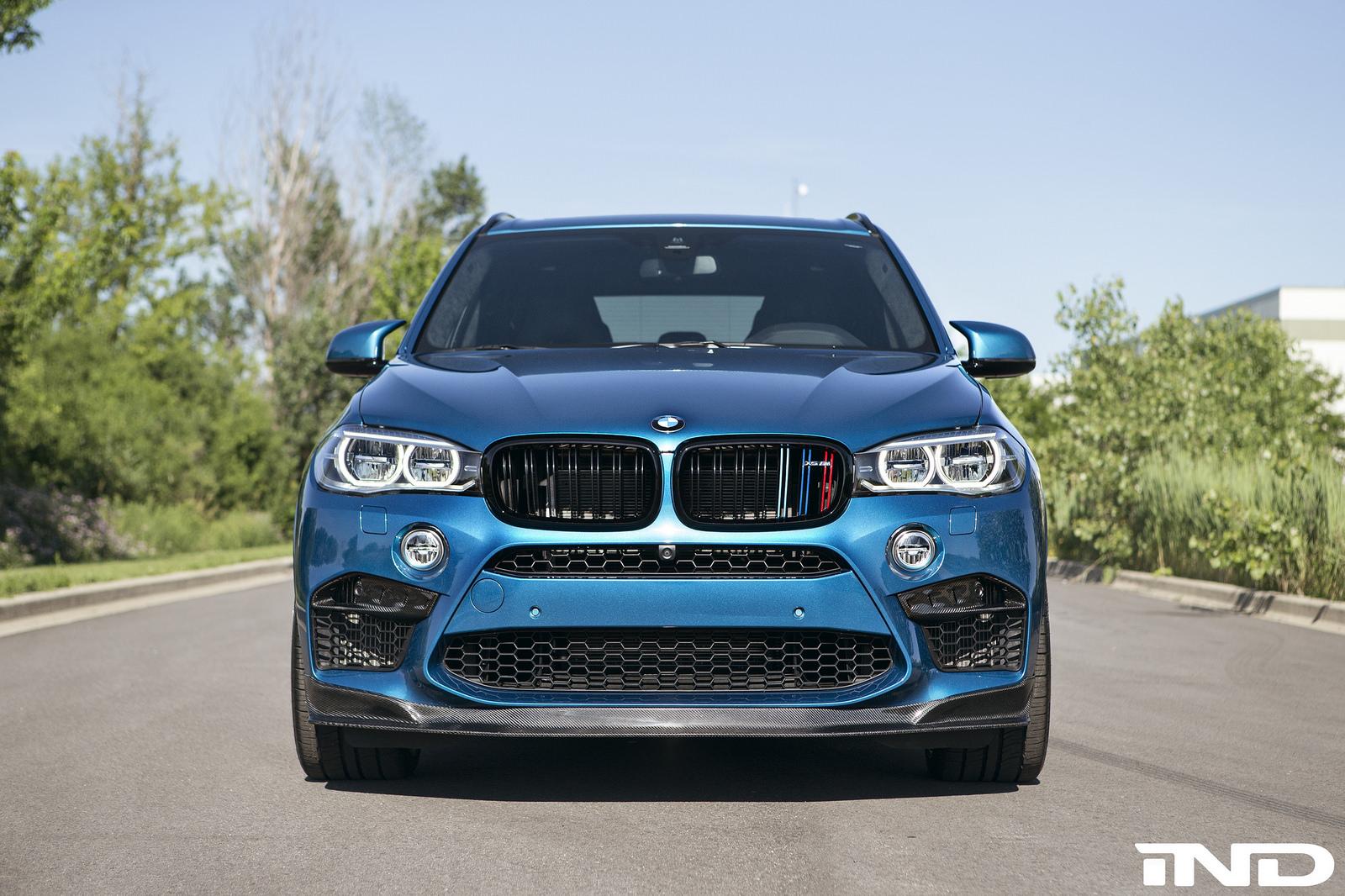 BMW X5 M Gets A Carbon Fiber Front Lip Installed 1