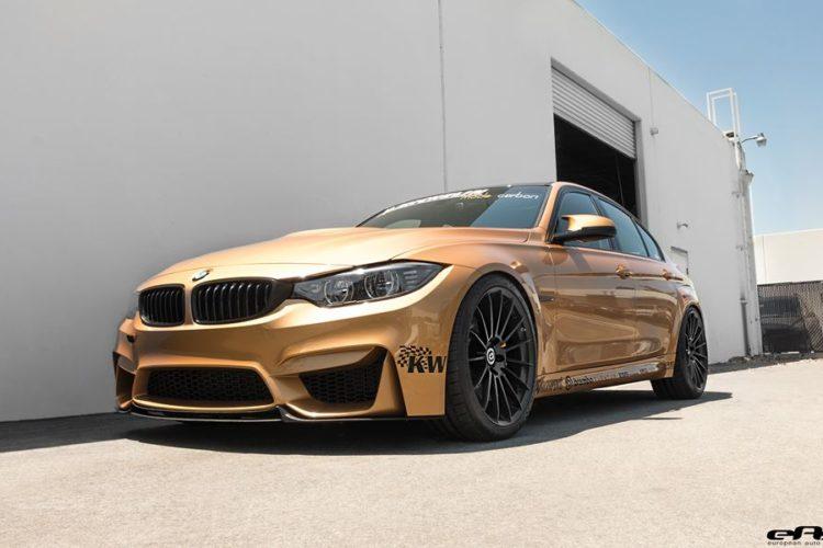 Sunburst Gold BMW M3 tuned by EAS