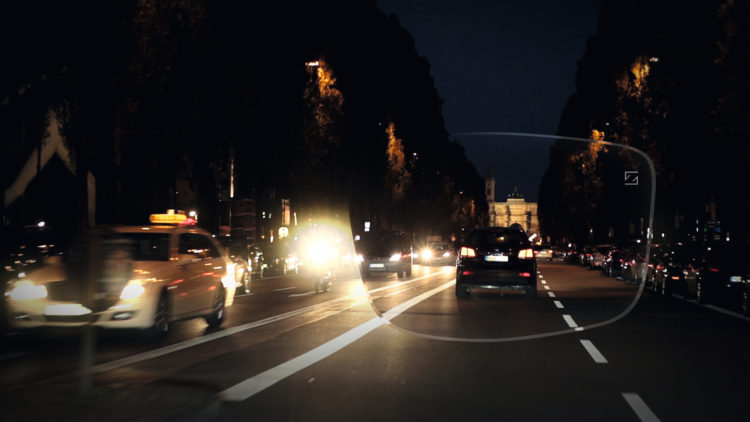 The ZEISS DuraVision DriveSafe anti-reflective coating reduces discomfort glare, caused mostly by modern car headlights