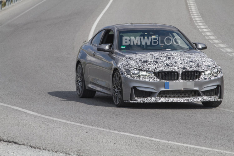 2017 BMW M4 Facelift spy photos 3 750x500