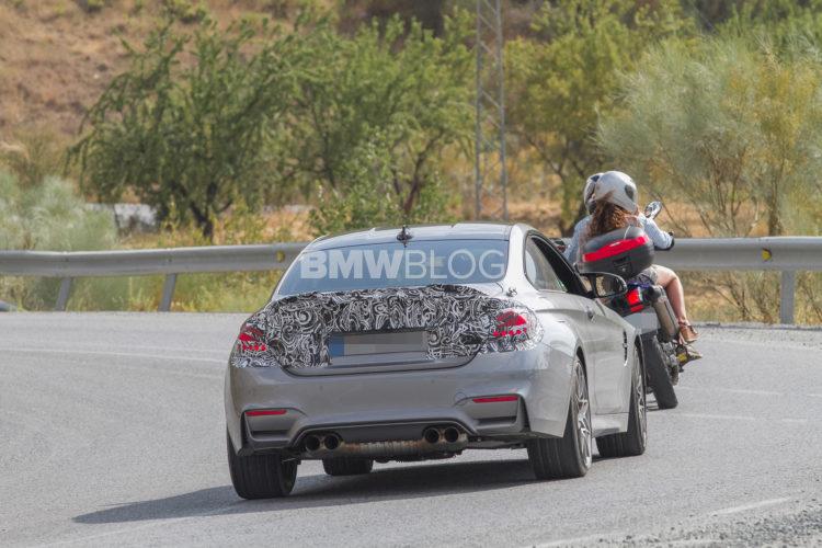 2017 BMW M4 Facelift spy photos 750x500