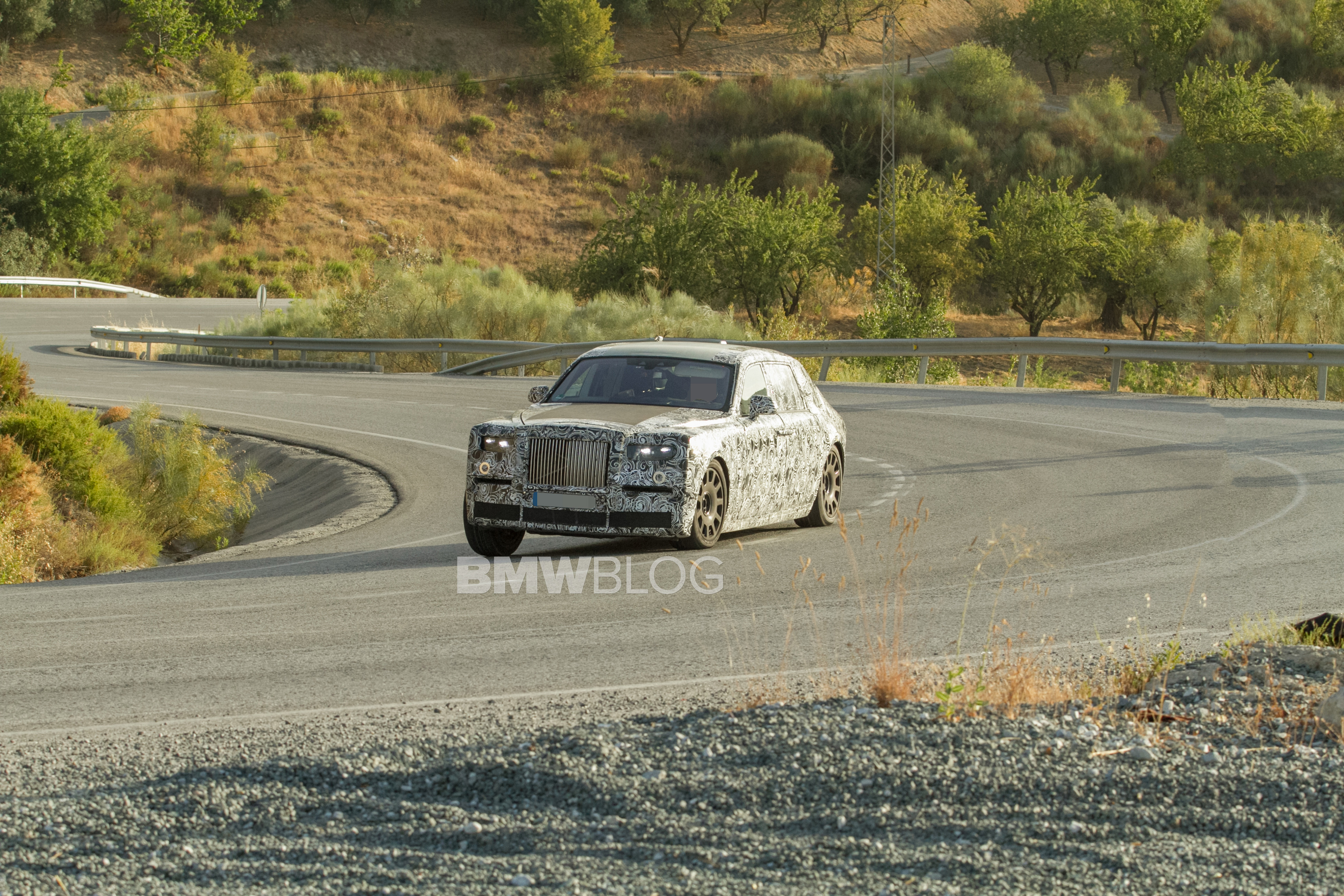 The new Rolls-Royce Phantom was spotted in Spain