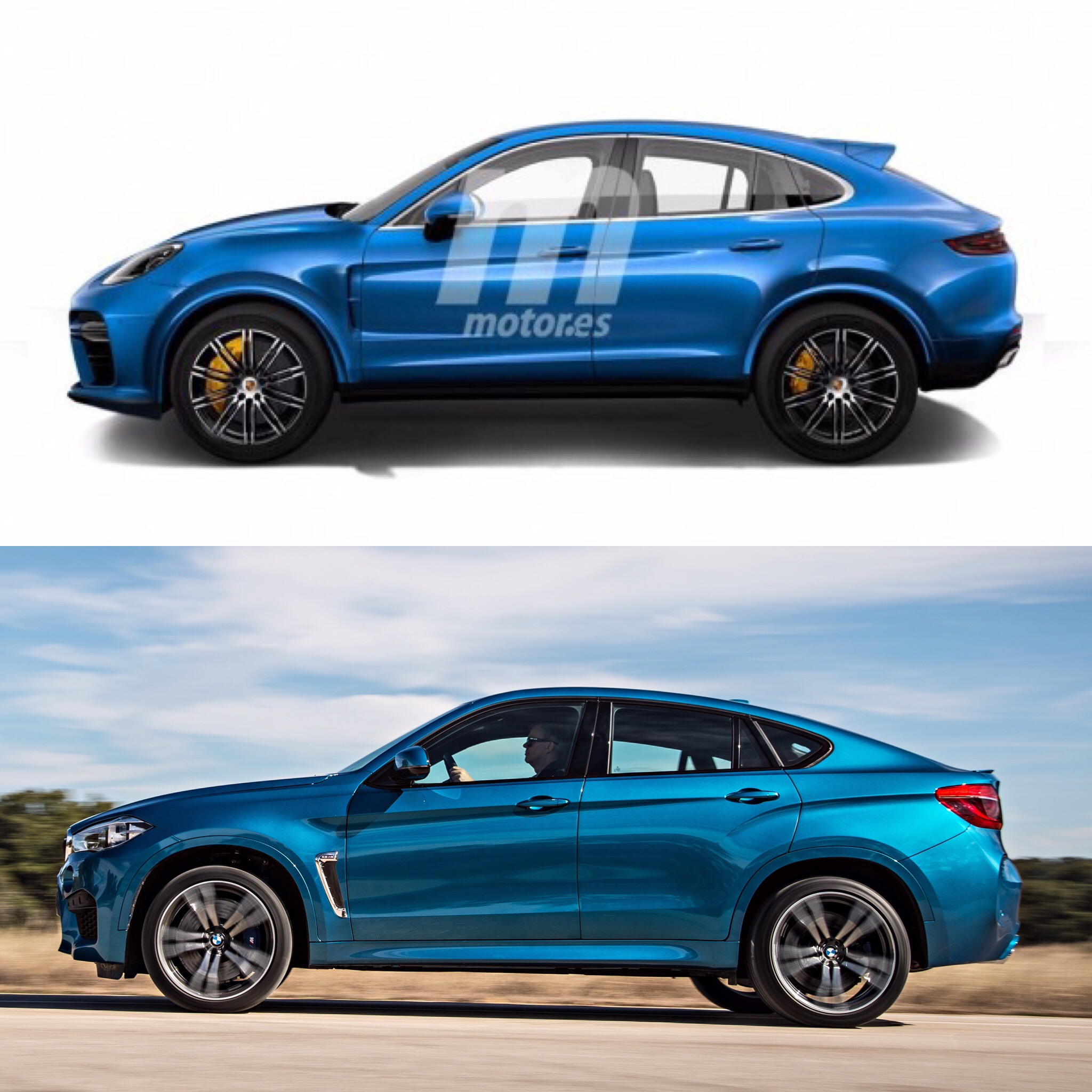 BMW X6-fighting Porsche Cayenne Coupe Caught Testing