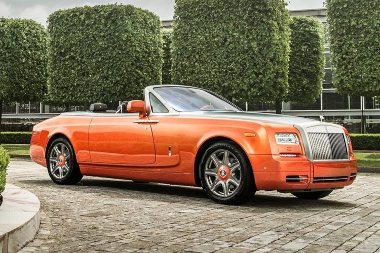 rolls-royce phantom dhc beverly hills edition is a beautiful sunset