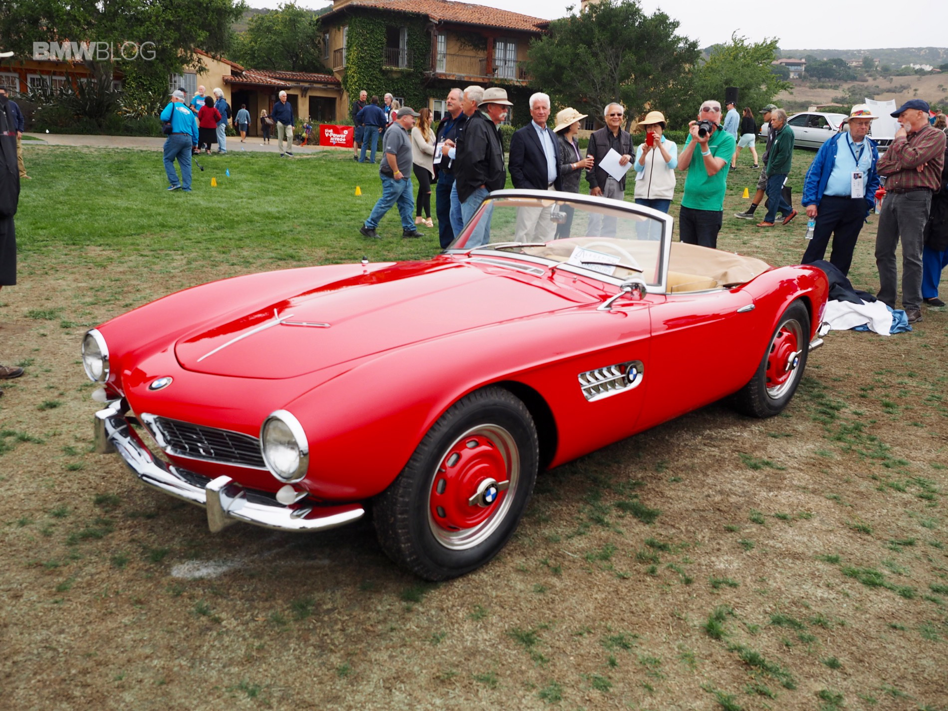 A stunning BMW 507 in red color