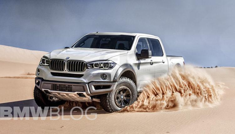 BMW pickup truck rendering 750x429
