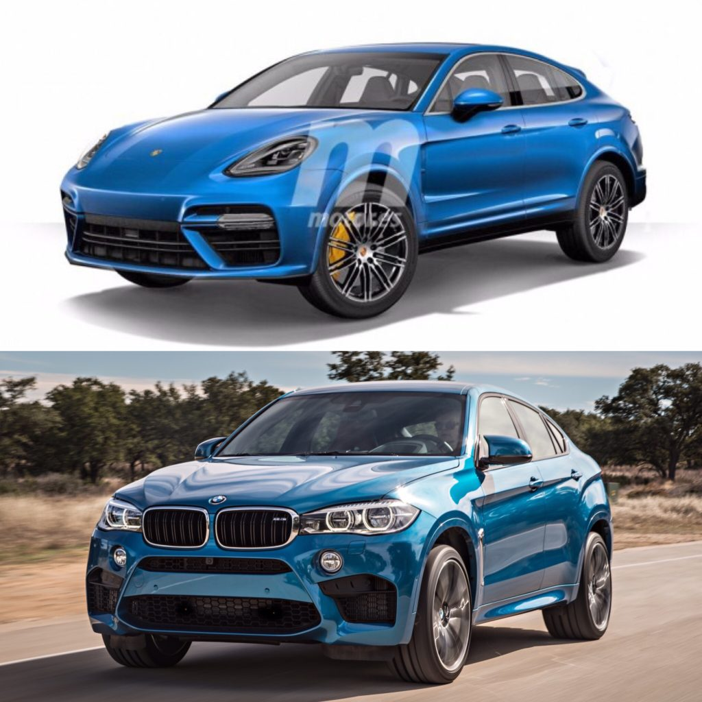 Bmw X7 M Series: Photo Comparison: Porsche Cayenne Coupe Render Vs BMW X6