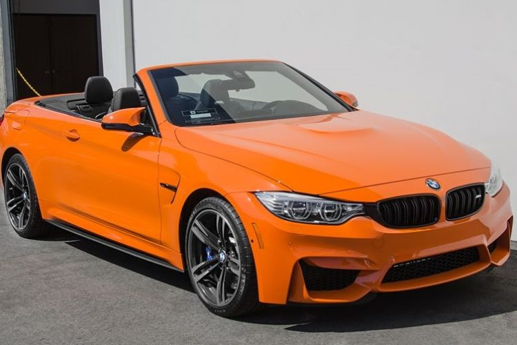 Rare Sighting: Fire Orange BMW M4 Convertible Upgraded at EAS