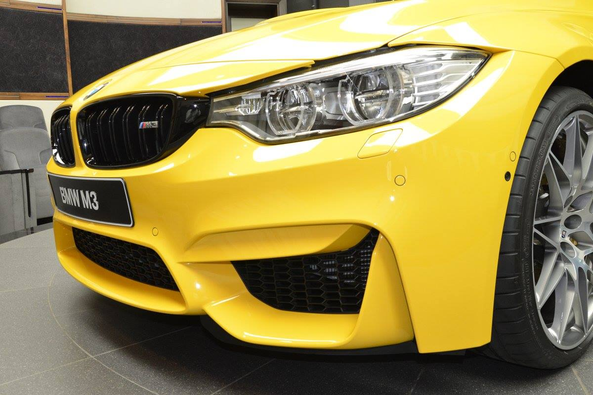 Speed Yellow Competition Package Bmw M3 Delivered In Abu Dhabi
