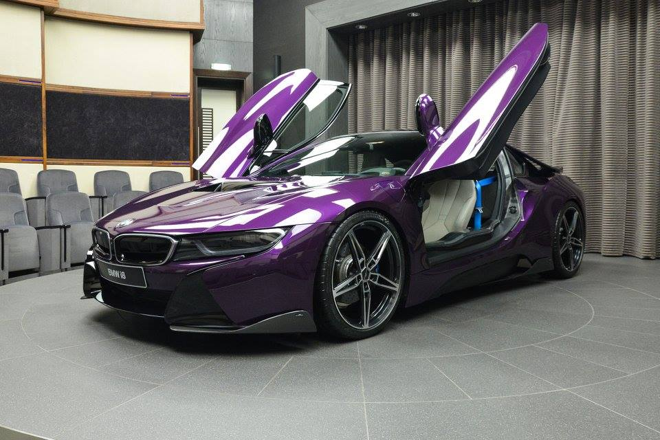 Twilight Purple Bmw I8 With Ac Schnitzer Parts Arrives In Abu Dhabi