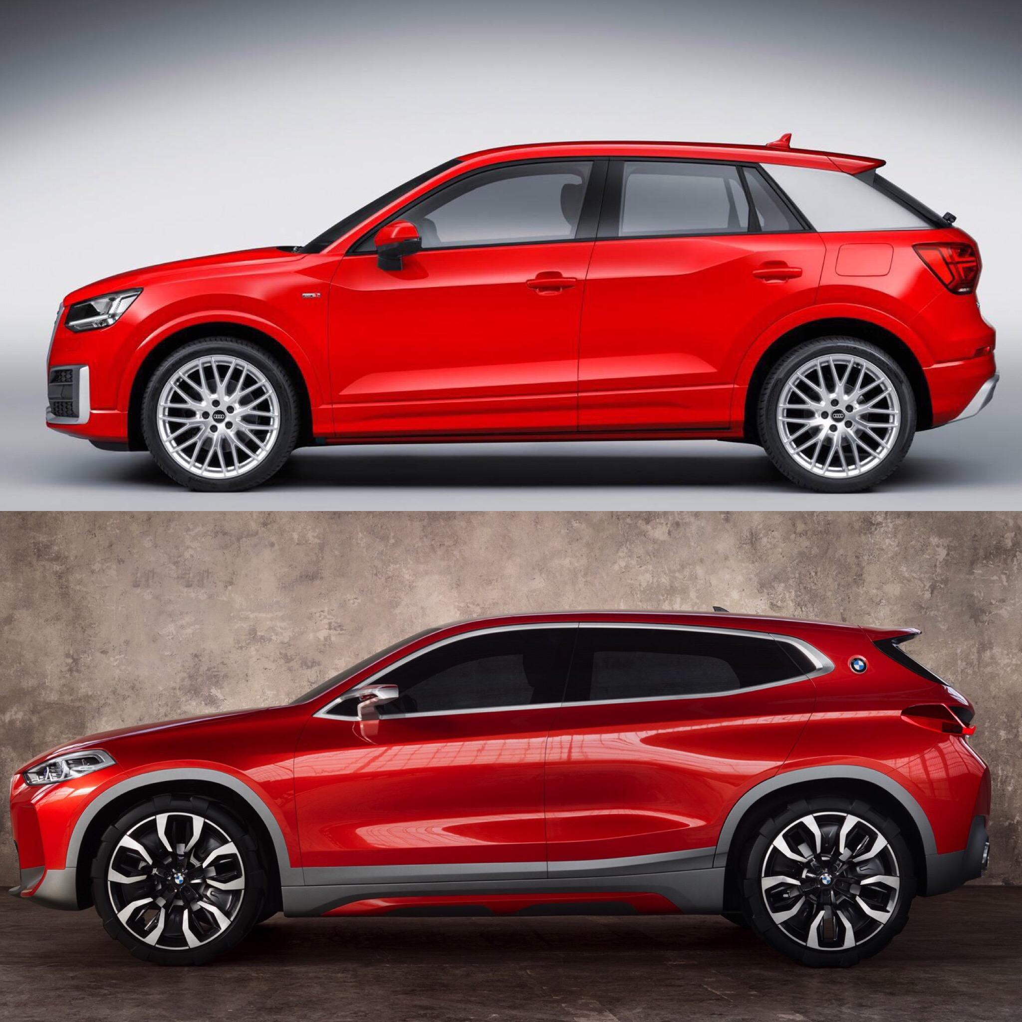 Bmw X1 Vs X2 >> Photo Comparison: BMW X2 vs Audi Q2