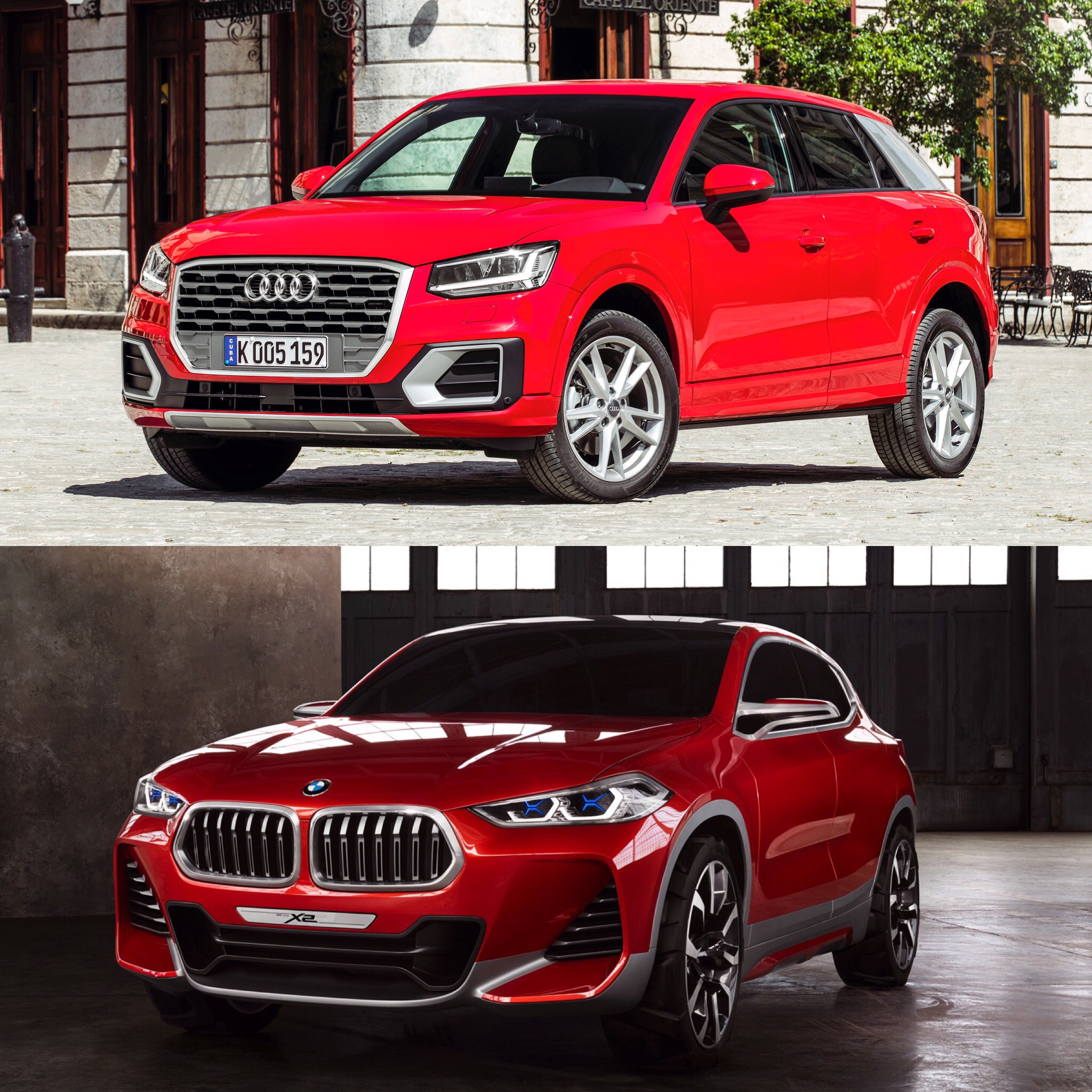 Photo Comparison Bmw X2 Vs Audi Q2