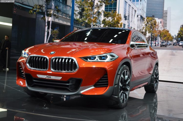 video bmw x2 concept world premiere at the paris motor. Black Bedroom Furniture Sets. Home Design Ideas