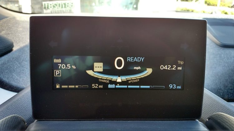 After driving 42 miles on the highway I still had 70.5% SOC and an estimates 93 miles or range remaining. My 2014 i3 REx doesn't even go 93 miles per charge! The range of the 2017 is a substantially greater than previous i3s, even more than the EPA rating would seem to advertise.