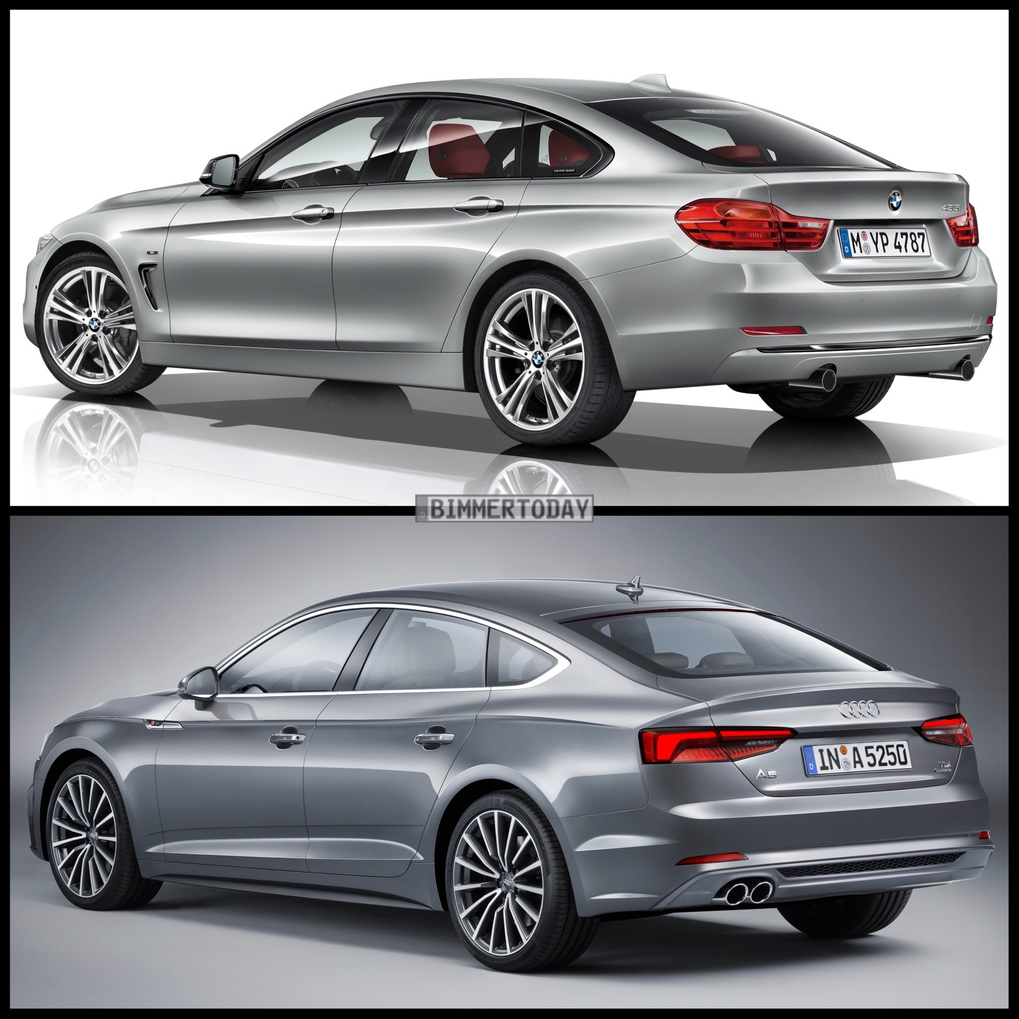 Photo Comparison: BMW 4 Series Gran Coupe Vs Audi A5 Sportback