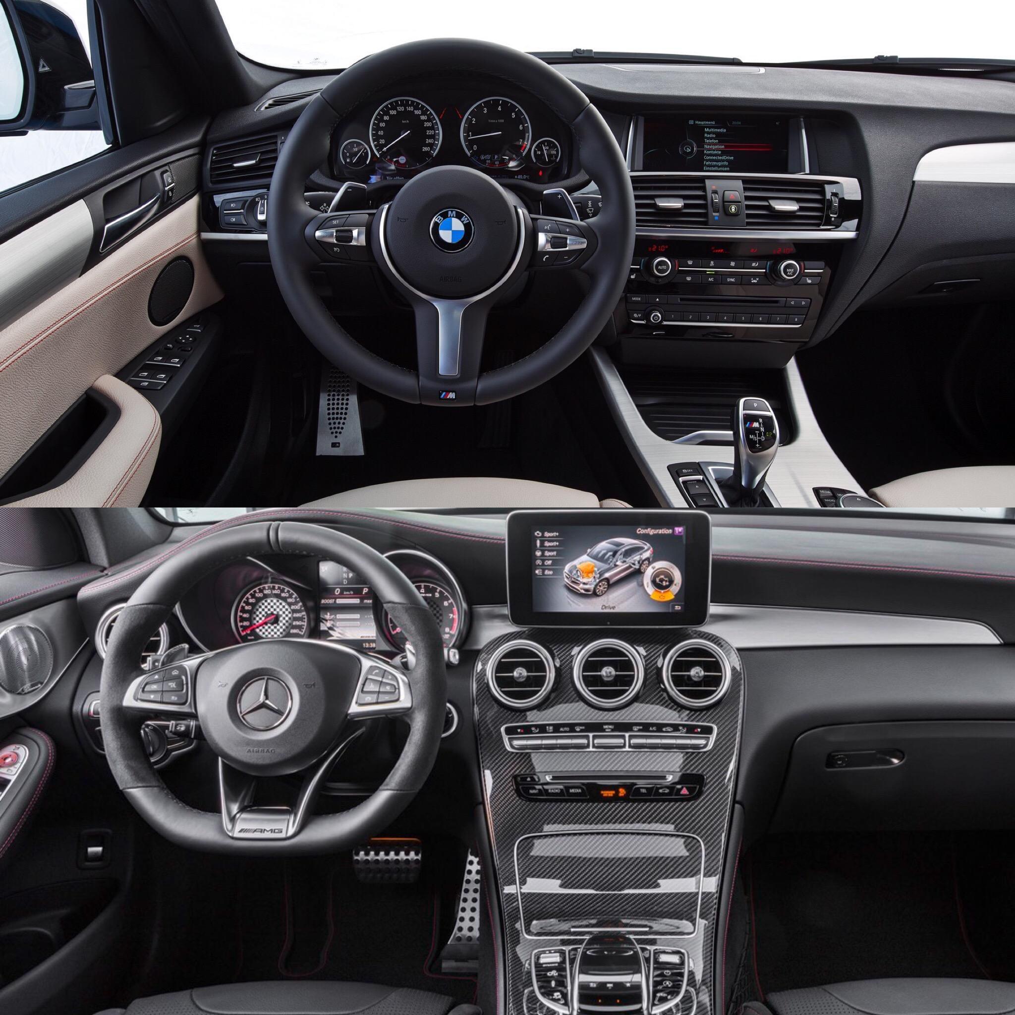 2019 Mercedes Benz Glc Coupe Camshaft: PHOTO COMPARISON: BMW X4 M40i Vs Mercedes-AMG GLC43 Coupe