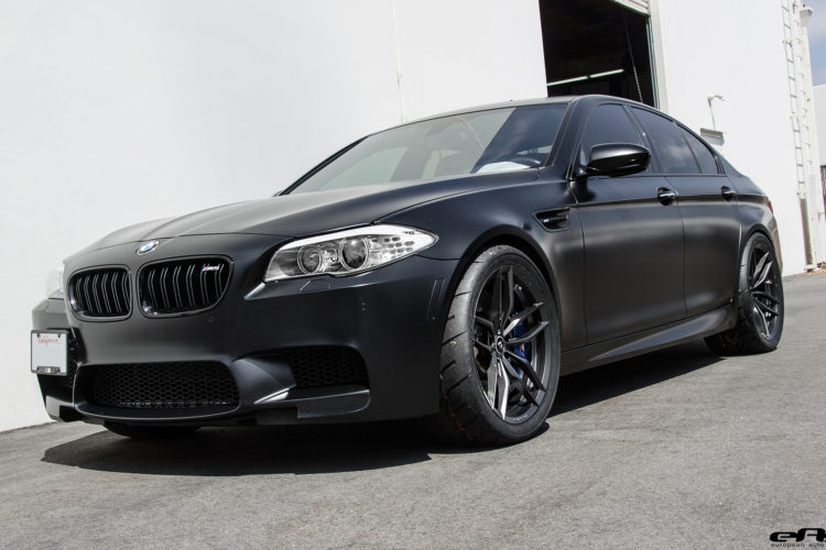 Matte Black Bmw >> Matte Black Bmw F10 M5 Gets Vorsteiner Flow Forged Wheels